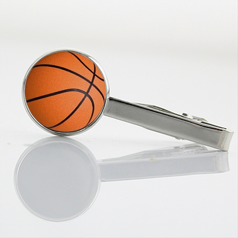 Basketball sport Tie Clips basketball player Formal Wear Necktie Pin new glass art volleyball Tennis billiard ball tie bar T253