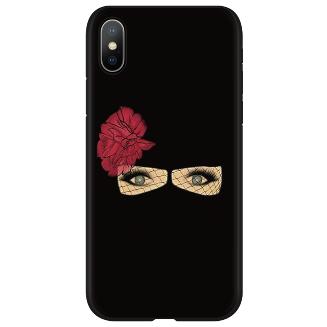 Muslim Islamic Hijab Gril Eye Queen TPU Cases for iphone 6 6S 7 8 Plus Cover FOR iphone X XS Max XR Case for iphone 10 5 5S SE 2