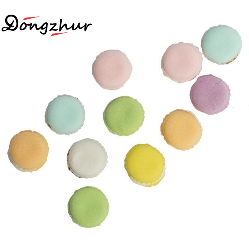 Doll Houses Rapture Dongzhur 15pcs/set Dollhouse Miniatures 1:12 Accessories Mini Makarons Doll House Boutique Clay Makaron Color Random Fast Food