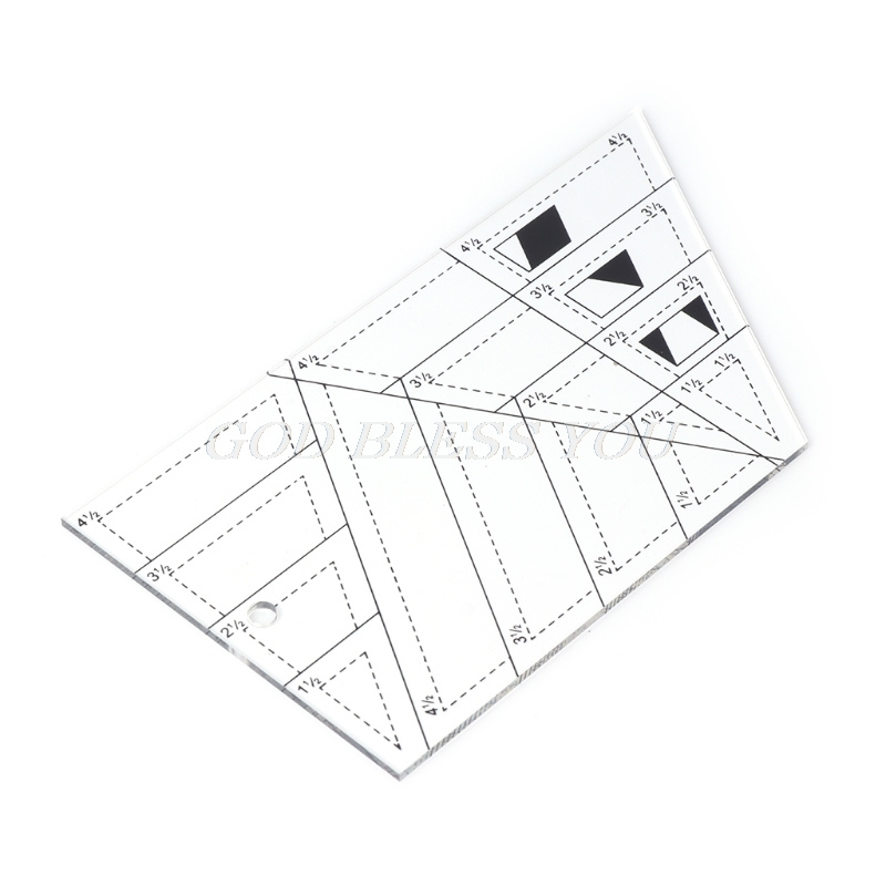 Shape Measure Trapezoid Quilts Plastic Ruler DIY Patchwork Sewing Tools