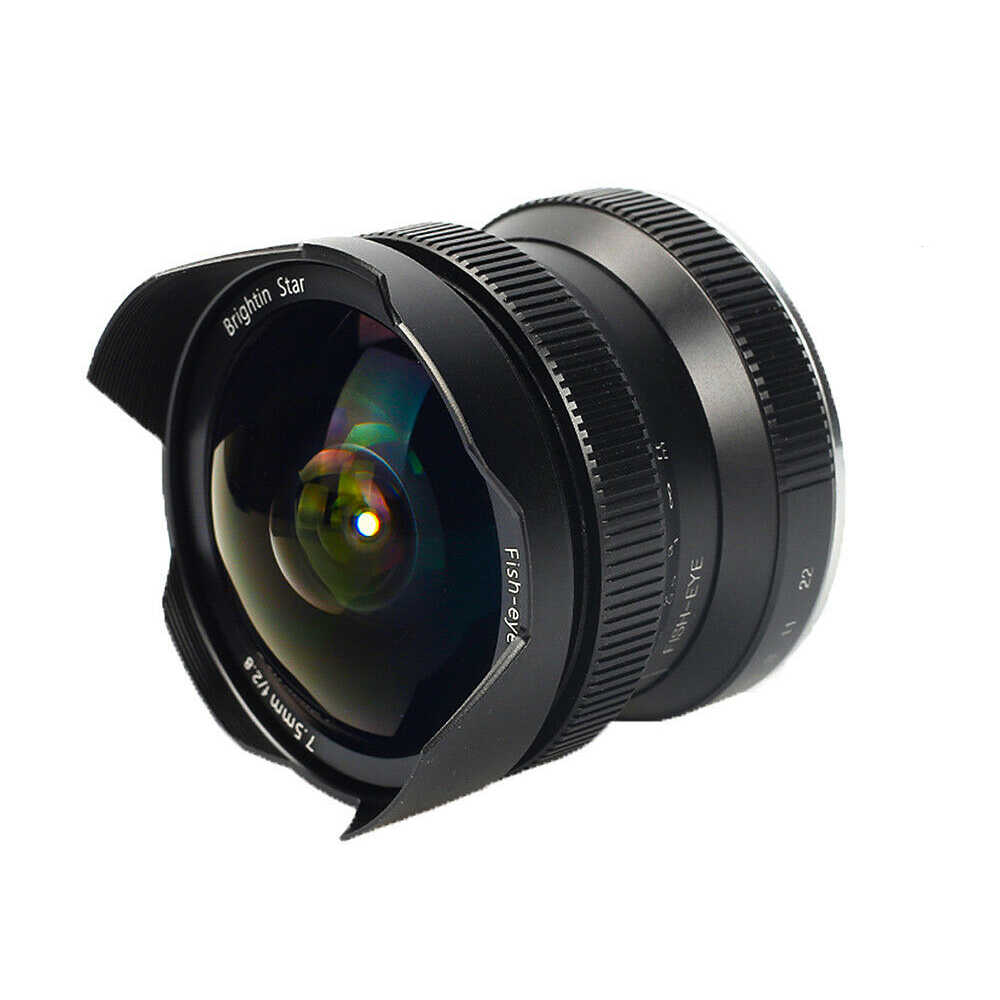 "7,5 мм F/2,8 Широкий формат объектив камеры ""рыбий глаз"" 180 градусов для Canon EOS-M крепление Камера Размеры s и M M1, M2, M3, M5, M6, M10, M100, M50"