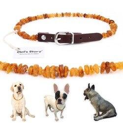 Baltischen Bernstein Floh und Tick Kragen mit Einstellbare Leder Band für Hunde und Katzen-Labor Getestet