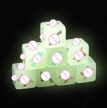 Dados Eróticos 1 PC Glow In The Dark Night Lights Love Dice de Sex Toys Fun Noctilucent Sex Dice de jogo adulto(China)
