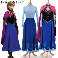 Princess Anna Elsa princess dress princess Anna costume adult snow grow princess Anna cosplay costume for Halloween women