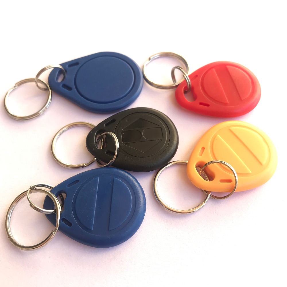 125khz Rewritable Rfid Fob T5577 Chip Blue Red Yellow Black (pack Of 10)