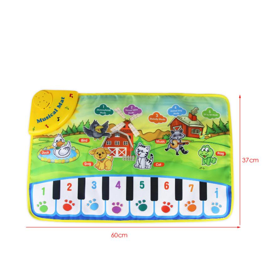 Hot Kids Baby Zoo Animal Musical Touch Play Singing Carpet Mat Toy Aug10