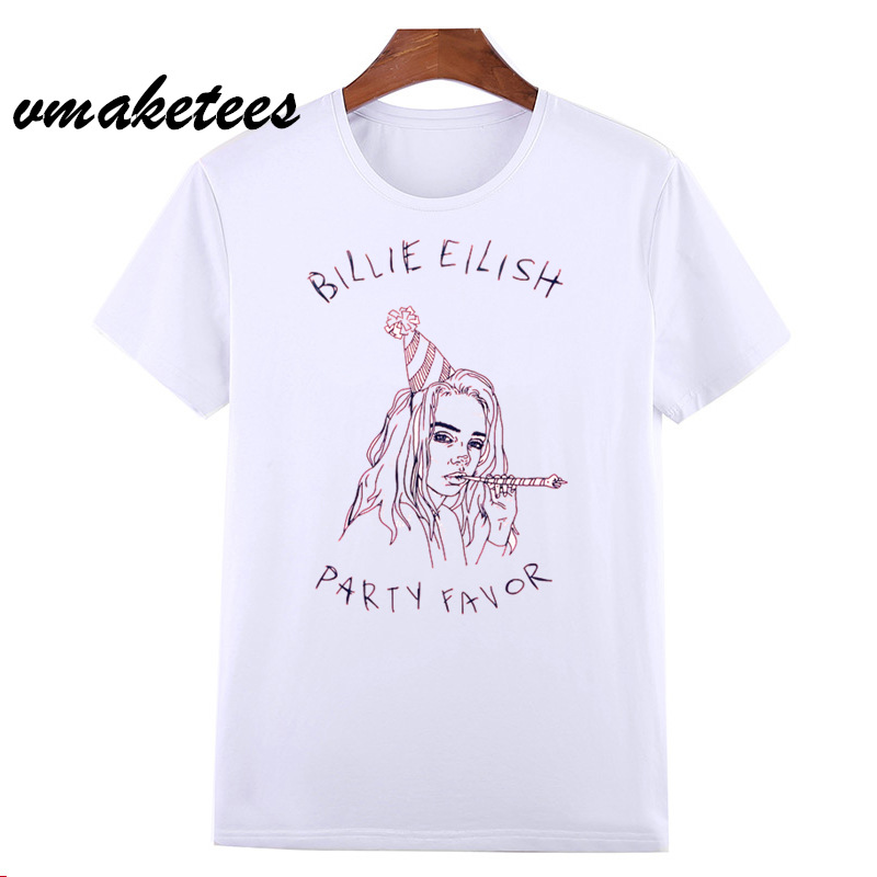I'm Not Your Party Favor - Billie Eilish T-shirt O-Neck Short Sleeves Summer Unisex oversize Men And Women Tshirt HCP4545