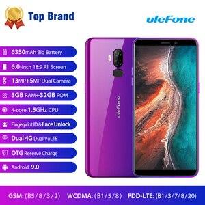 Image 2 - Ulefone P6000 Plus 6350 MAh Điện Thoại Thông Minh Android 9.0 6 Inch HD + Camera Kép Ouad Core 3GB 32GB điện Thoại Di Động 4G Di Động Điện Thoại Android