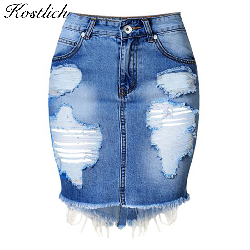 Popular Ripped Denim Skirt-Buy Cheap Ripped Denim Skirt lots from