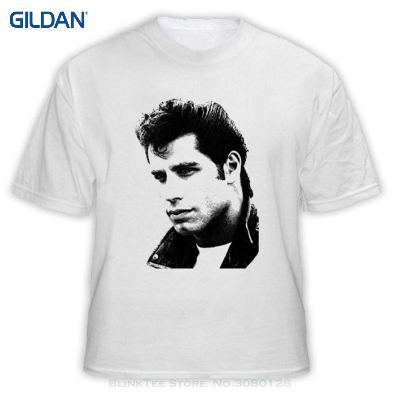 Danny zuko black t shirt - Gildan Man Print T Shirt Hipster Alstyle Men S John Travolta Grease Movie T Shirt