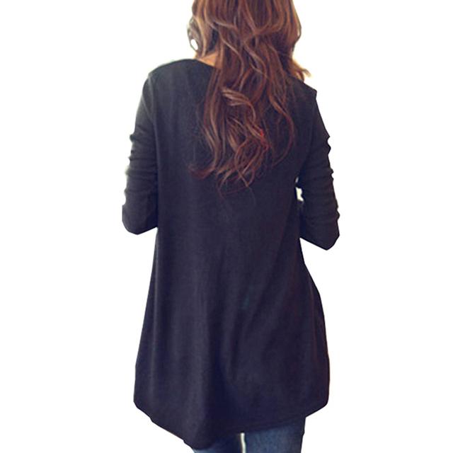 Fashion Autumn Women Casual Round Neck Tropical New Blouse Long Sleeve Shirt Plus Size Top E420