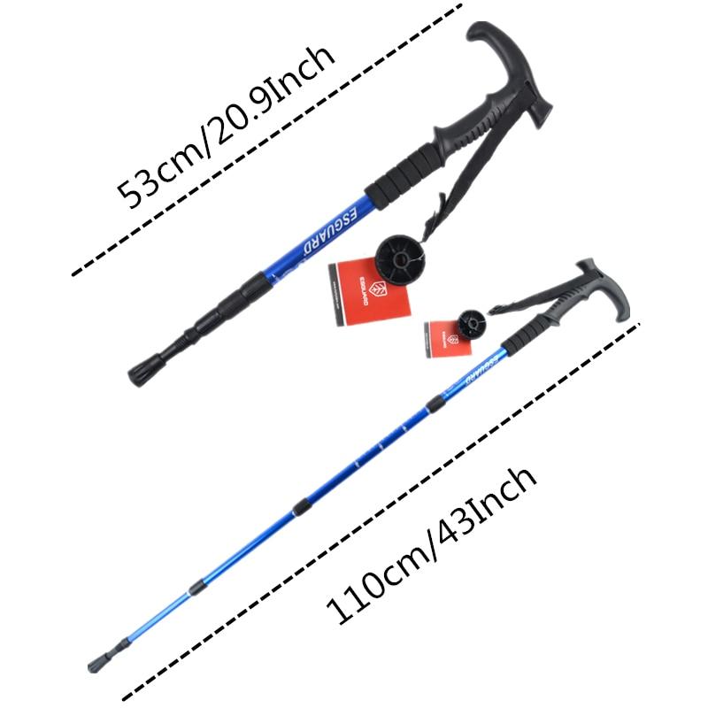 Image 2 - VILEAD 2Pcs/lot 53 110cm Nordic Walking Sticks Aluminum Adjustable Ultralight Outdoor Travel Hiking Poles Walking Cane for elder-in Walking Sticks from Sports & Entertainment