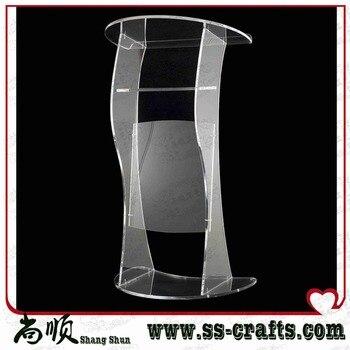 Modern Design Factory Sale Transparent Crystal Acrylic Lectern Plexiglass