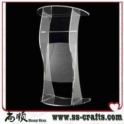 Moderne Design Factory Verkoop Transparant Kristal Acryl Katheder plexiglas