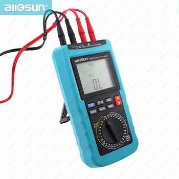 Modern Digital Cable Length Meter 4 1/2 Digit Display Automatic Temperature Compensation 20 Pre-Set Wire Gauge ALL SUN EM5812