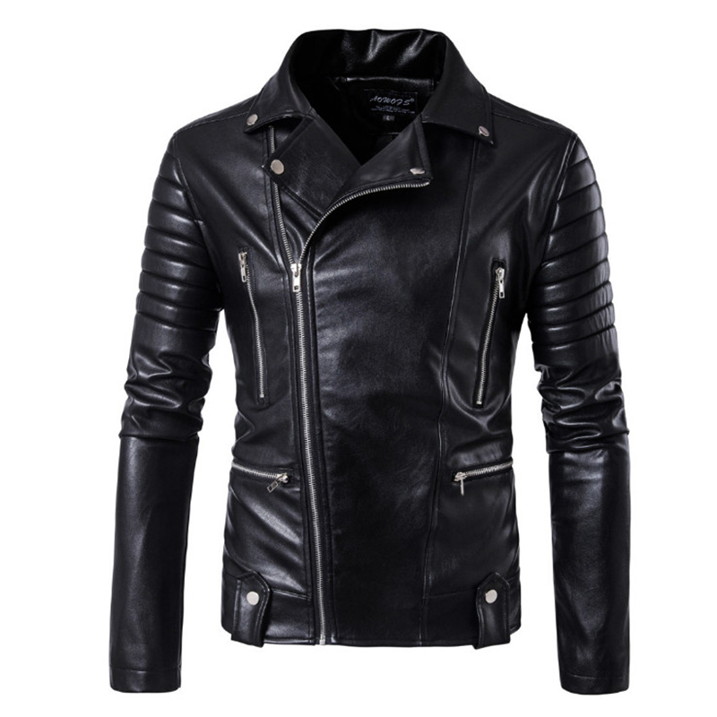 New Brand Jacket Punk Multi Design Style Motorcycle Biker Leather Jacket Men Fashion Skull Leather Coats Male Bomber Jacket 5XL