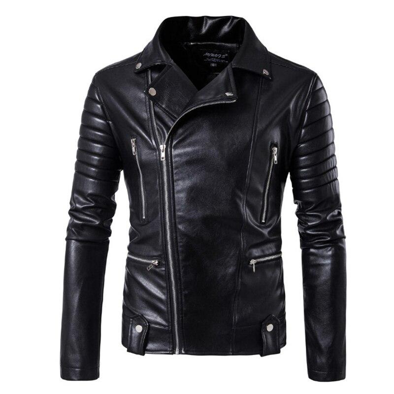 Nouvelle marque veste Punk Multi Design Style moto Biker veste en cuir hommes mode crâne cuir manteaux mâle Bomber veste 5XL
