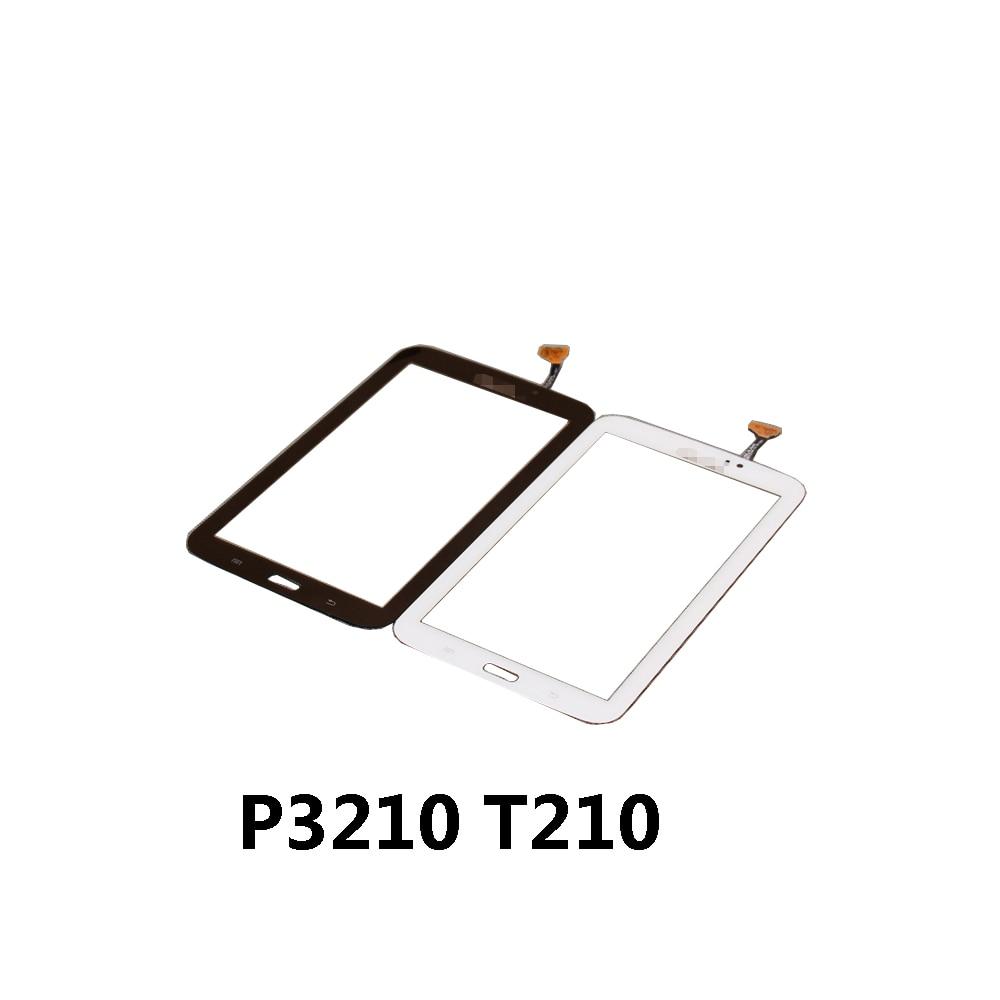 Para Samsung Galaxy Tab 3 7.0 polegada Tela de Toque SM-T210 SM-T211 T210 T211 Painel de Toque Digitador Sensor de Vidro Com Logotipo