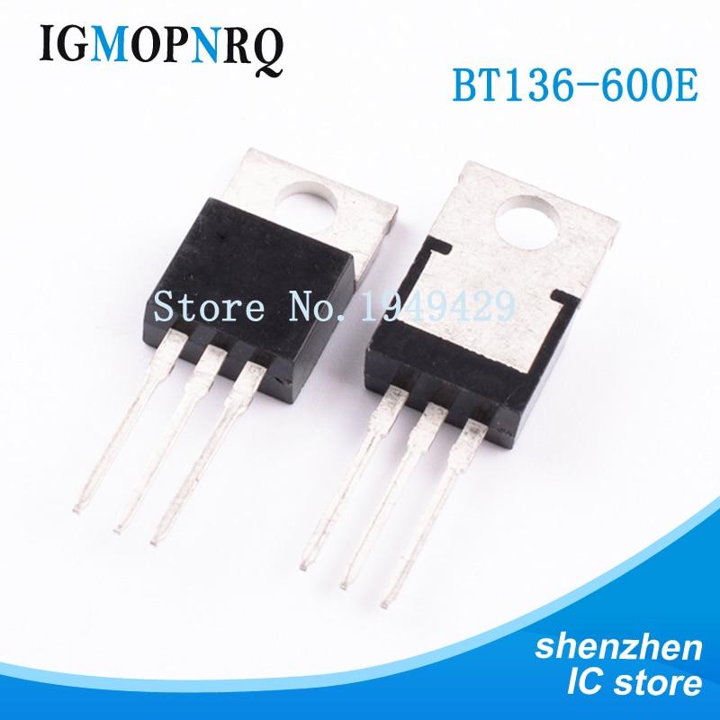 10PCS/lot BT136-600E BT136-600 TO-220 BT136  New Original