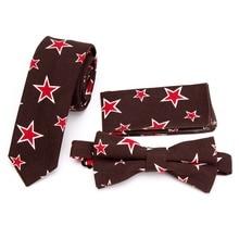 Tie XGVOKH Mens Skinny Flower Rose wedding Pocket Square Handkerchief Butterfly Bow Ties Necktie Set Lots corbatas para hombre