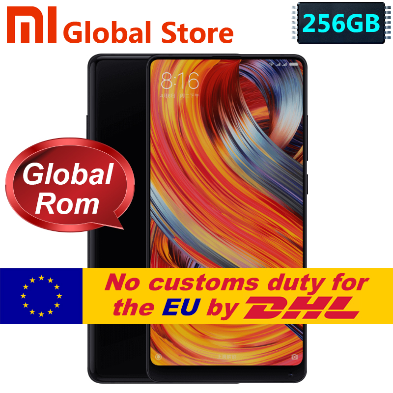 Xiaomi Mi Mix 2 Mix2 6GB 256GB Smartphon Mobile Phone Snapdragon 835 Octa Core 5.99 Full Screen Display Ceramics Body