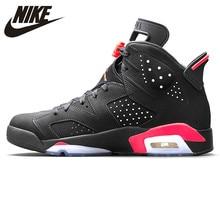 reputable site 599f6 31f92 Nike Air Jordan 6 negro infrarrojos AJ6 hombres zapatos de baloncesto negro  y rojo la absorción de choque Anti-Slip apoyo Balanc.
