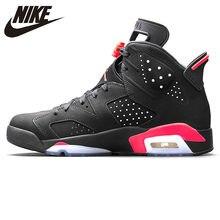 650c2d380c Nike Air Jordan 6 noir infrarouge AJ6 hommes chaussures de basket, noir &  rouge, Absorption des chocs anti-dérapant soutien Bala.