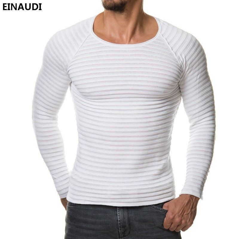 EINAUDI 2017 New Fashion Winter Men Pullover Knitted Sweater High Quality Warm Sweaters Male Long Sleeve Plus Size Top Hombre