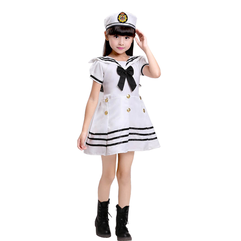 child dancing dress for girls Naval uniforms modern dance costumes for kids stage wear girls