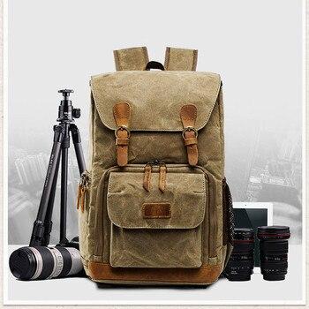 Outdoor Camera Bag Backpack Waterproof Photography Outdoor Water Resistant Canvas Bag Best Sale-WT