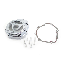 Aftermarket free shipping motorcycle parts Engine Stator cover see through for Suzuki 2005 2006 2007 2008 GSXR 1000 CHROME
