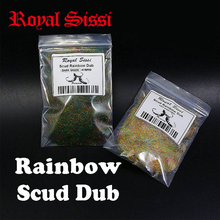 New 2packs rainbow scud dubbin light&Dark shade assorted nymph dubbing fly tying material for trout lure making wet fly fishing