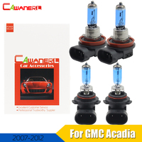 Cawanerl 4 Pieces 100W Car Halogen Bulb Headlight High Low Beam 12V 4300K Warm White For