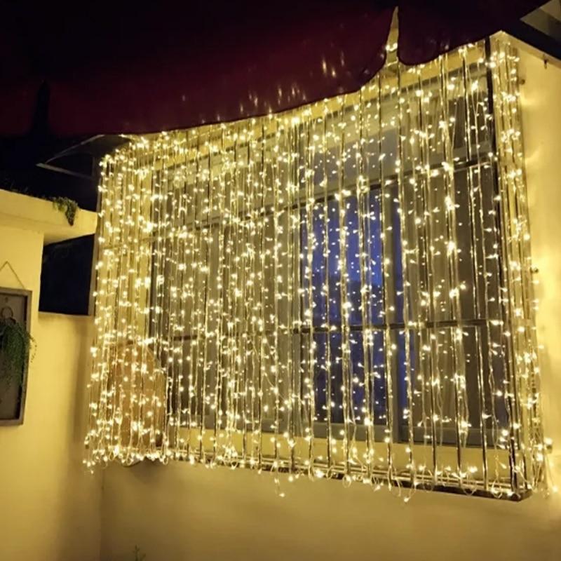 Home & Garden Festive & Party Supplies Starlight Led Lamp String Christmas Lamp Decor Festival Starry Sky Curtain Wedding Party Rainbow Lamp Fairy Flash Star Curtain High Quality