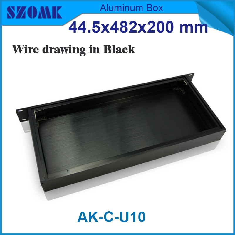 electronic project box 44.5(H)x482(W)x200(L) mm extruded aluminum enclosures Black high quality and cheap cost aluminum case 250 73 5 250 mm w h l electronic diy aluminum project box extruded diecast aluminum junction box for electronic pcb