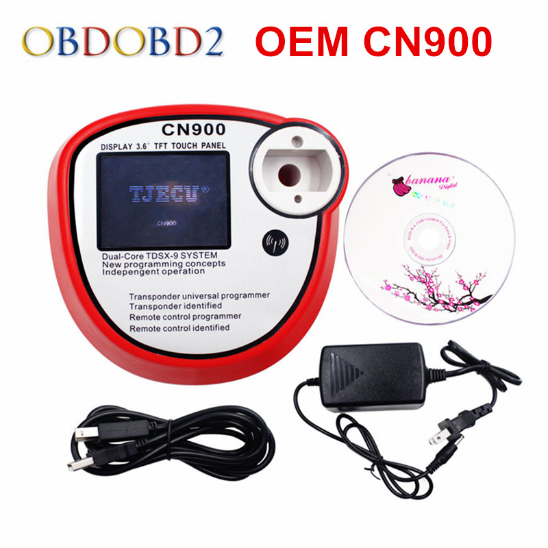 Newest CN900 Auto Key Programmer OEM CN 900 Transponder Chip CN-900 Car Key Maker Copy 4C and 4D Chips DHL Free  promotion newest ak90 key programmer ak90 pro key maker for b m w all ews version v3 19 plus ak90 with free shipping