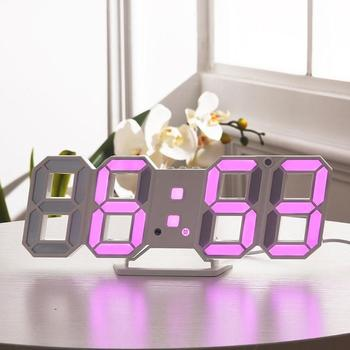 Reloj digital de sobremesa en color rosa