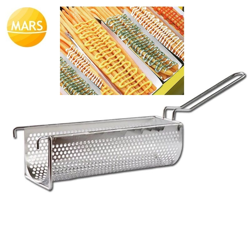 Long Potato Fries Frying Baskets Longest French Fries Chips Rack Frying Strainer kitchen Colander Holders Tools