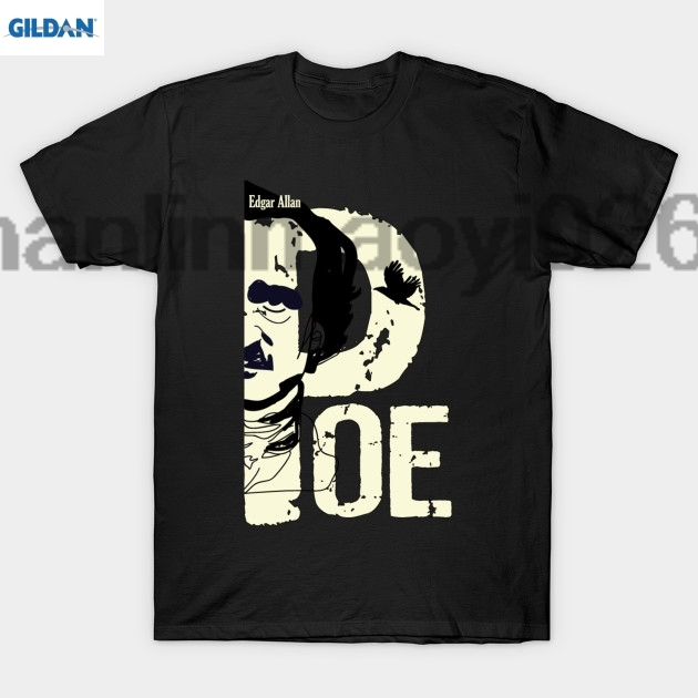 GILDAN New style printed T-shirt mens cotton T-shirt mens round neck T-shirt popular shirt T-shirt Poe T Shirt ...