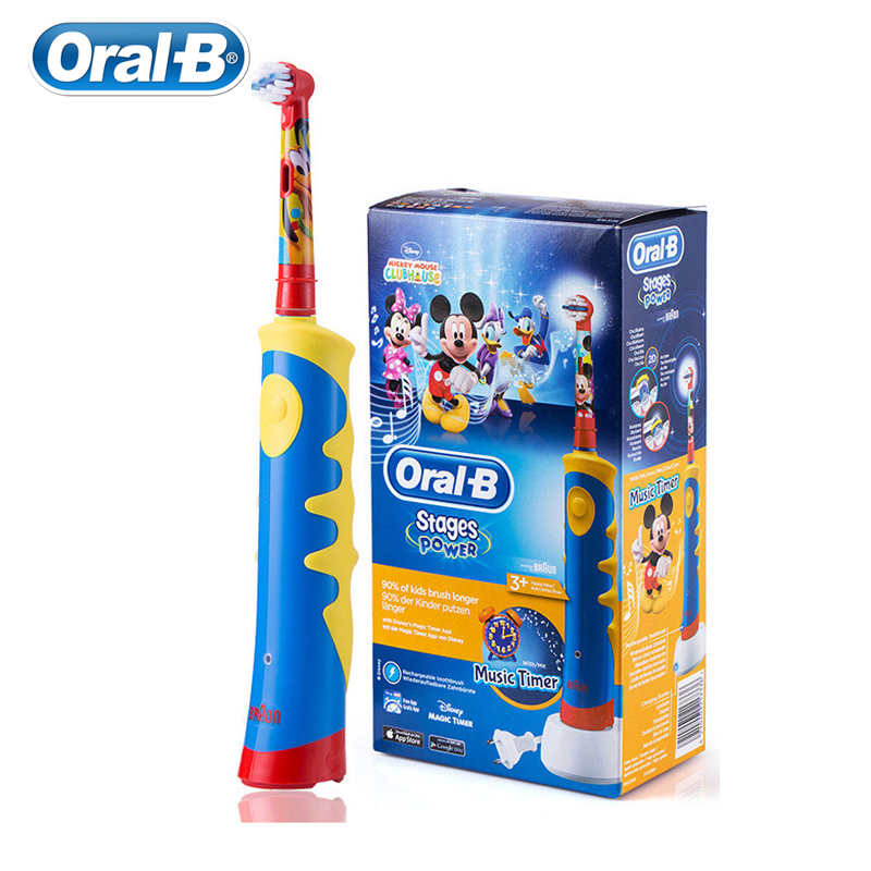 Oral B Electric Toothbrush for Kids Replaceable Brush Head Gum Care Soft Bristle Inductive Charging Whole Body Waterproof image