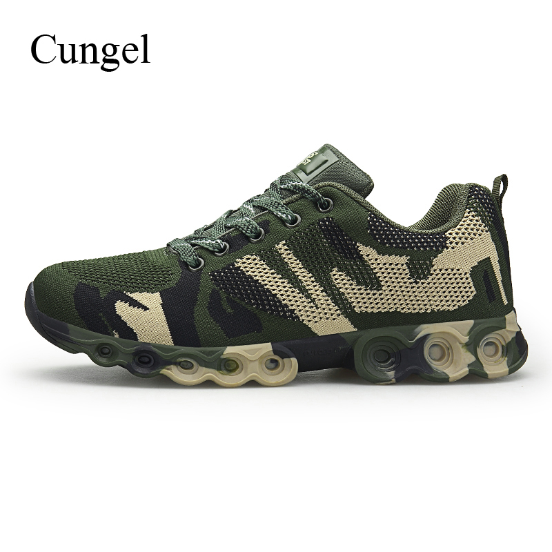 Cungel Sneakers men Spring/Summer Outdoor Hiking shoes Breathable Army Camouflage shoes Anti-skid Trekking Climbing shoesCungel Sneakers men Spring/Summer Outdoor Hiking shoes Breathable Army Camouflage shoes Anti-skid Trekking Climbing shoes