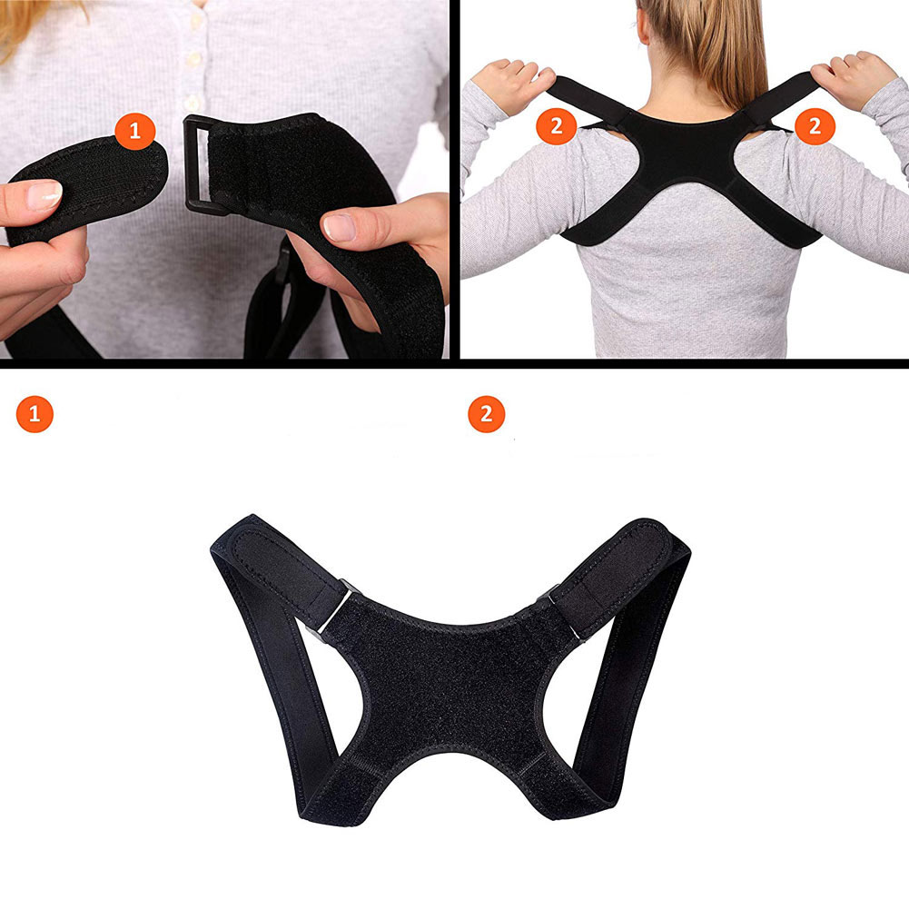 2018 New S L Straight Back Support Posture Correction Upright Posture Back Stabiliser Release Neck Pain DC88 in Braces Supports from Beauty Health