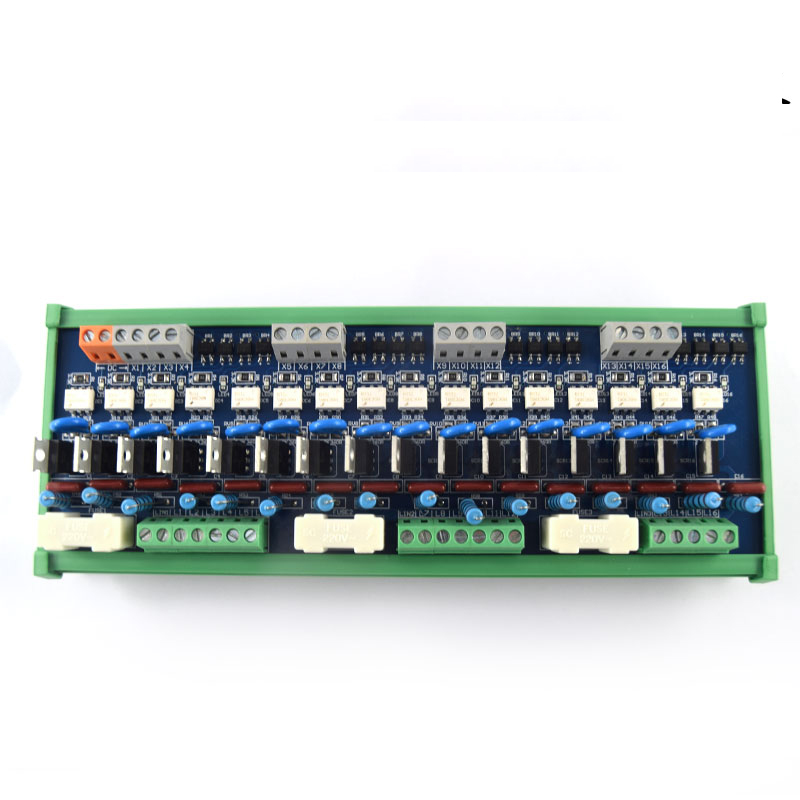 16 channel PLC AC amplifier board, output board, thyristor optocoupler isolation board, contactless relay module pc board