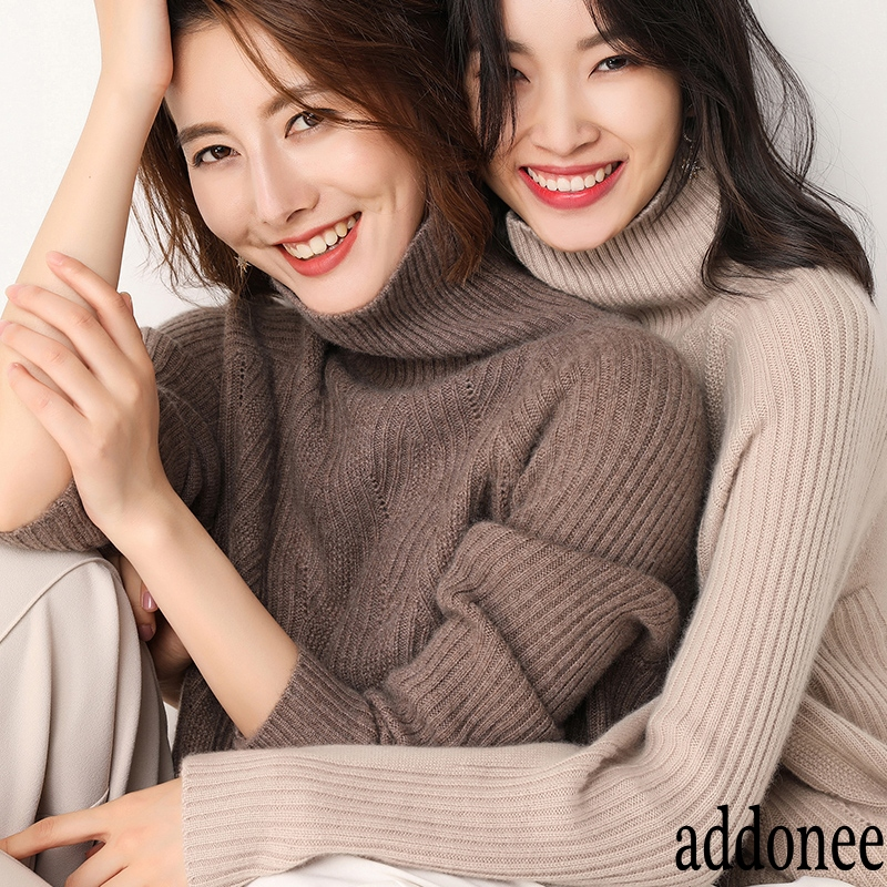 New Style High Quality Autumn Winter Women Cashmere Wool Sweater Pullovers Warm Soft Loose Turtleneck Fashion Casual Wild-in Pullovers from Women's Clothing    3