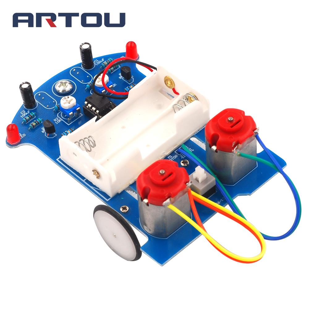 D2-5 DIY Kit Intelligent Tracking Line RC Car Suite DC Motor Electronic Production Assembly Smart RC Car Accessories