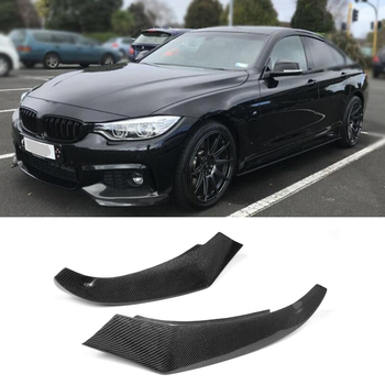Carbon Fiber Auto Front Lip Splitter Flaps for BMW 4 Series F32 F33 435i M Sport Coupe Convertible 2-Door 2014-2016 car styling image