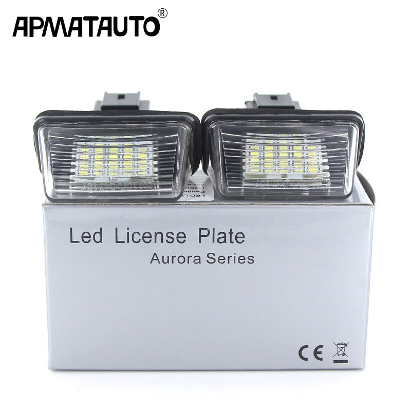 Apmatauto 2Pcs LED 18SMD License Number Plate Lights Lamp For Citroen C3 C4 C5 Berlingo Saxo Xsara Picasso