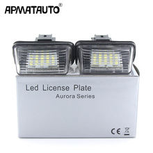 Apmatauto-Luces led para placa de matrícula del coche, lámpara trasera de alta potencia 18SMD para Citroen C3 C4 C5 Berlingo Saxo Xsara Picasso, por 2 uds.