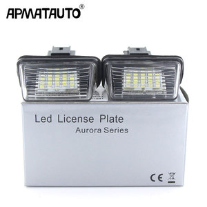 Apmatauto 2Pcs LED 18SMD License Number Plate Lights Lamp For Citroen C3 C4 C5 Berlingo Saxo Xsara Picasso(China)