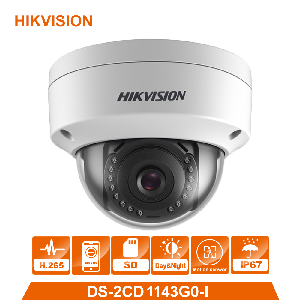 HIK Original DS-2CD1143G0-I 4 Megapixels POE IP Camera Indoor/Ooutdoor Fixed Day/Night Vision Security Camera ONVIF H.265HIK Original DS-2CD1143G0-I 4 Megapixels POE IP Camera Indoor/Ooutdoor Fixed Day/Night Vision Security Camera ONVIF H.265